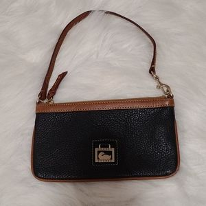 Dooney & Bourke pebble  leather  wristlet mini bag